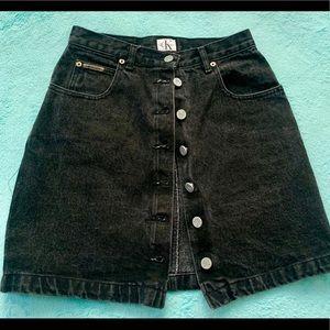 Calvin Klein black denim skirt